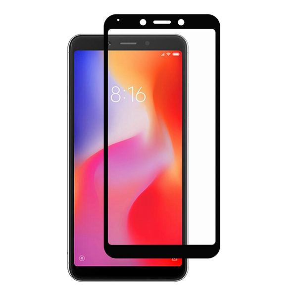 Стекло 5D для Xiaomi Redmi 6 Black